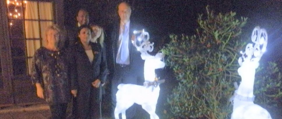 Chris Grayling Switches on Christmas Lights
