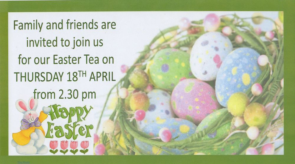 Come and join us for our Easter Tea