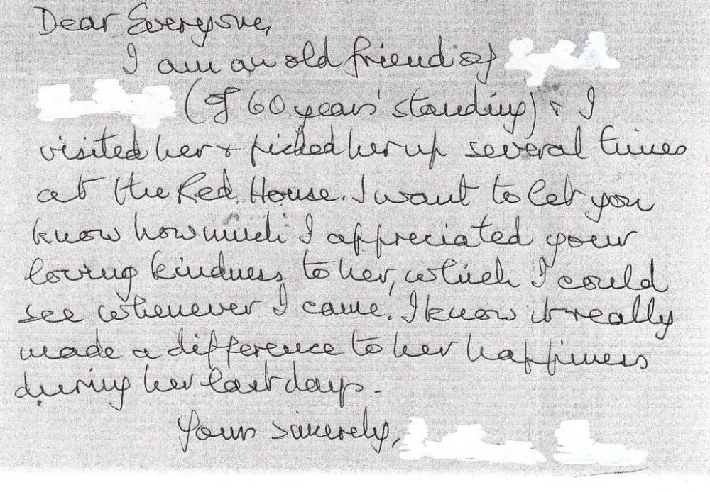 Letter of Thanks 19 2 14